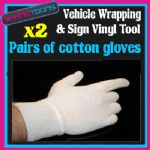 VEHICLE WRAP WRAPPING TOOL 2 PAIRS OF COTTON GLOVES
